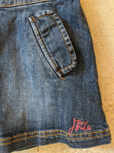 Load image into Gallery viewer, Cute Girl's Preloved Little Joule Denim Skirt a-Line Age 5 Age 6