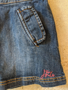 Cute Girl's Preloved Little Joule Denim Skirt a-Line Age 5 Age 6