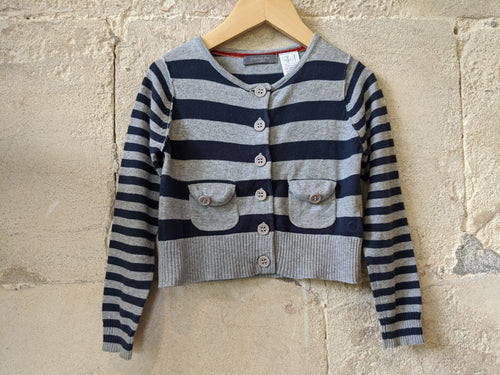 second-hand-child's-clothing-kids-clothes-baby-preloved-cardigan 3years-french-stripe-cardigan- designer