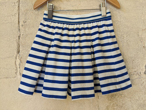 French Preloved Monoprix Designer Striped Kids Skirt 6Years