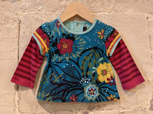Load image into Gallery viewer, French Designer Catimini Baby Long Sleeved Floral  Top 6 Months