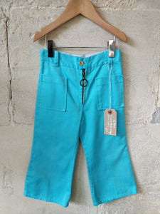 Super Cool Blue French 70s Flares Age 2