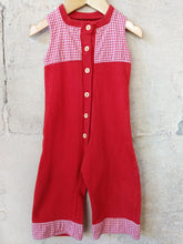 Load image into Gallery viewer, Fabulous French Vintage Red Retro Dungarees 6 Months