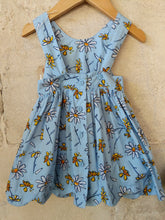 Load image into Gallery viewer, Little Bee Sky Blue Summer Dress & Matching Hat 6 Months