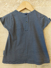 Load image into Gallery viewer, French Striped A-Line Cotton Dress - 3 Months