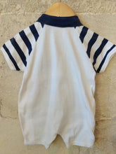 Load image into Gallery viewer, Vintage Breton Striped Romper 3 Months