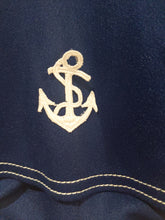 Load image into Gallery viewer, Antique Navy Blue Nautical Romper 3 Months