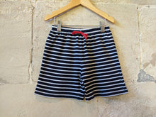 Load image into Gallery viewer, JoJOMaman Striped Preloved Kids Shorts Navy Blue