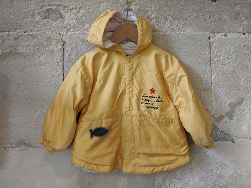 Yellow baby raincoat preloved