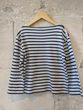 Load image into Gallery viewer, Breton Striped Mariniere Kids Preloved Clothes Age 8