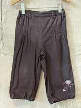 Load image into Gallery viewer, Kitchoun Summer Chocolate Brown Girls Preloved Baby Trousers 18 Months