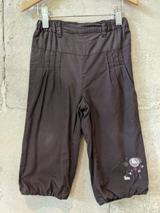 Kitchoun Summer Chocolate Brown Girls Preloved Baby Trousers 18 Months