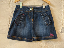 Load image into Gallery viewer, Little Joule Preloved Denim Skirt Girls Preloved Clothing 5-6 years