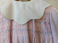 Load image into Gallery viewer, Wonderful French Vintage Smocked Cotton Dress - 12 Months