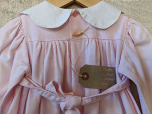 Wonderful French Vintage Smocked Cotton Dress - 12 Months