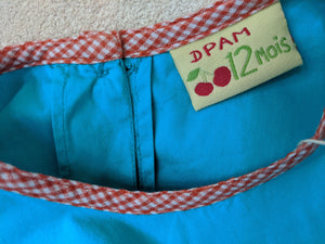 Vibrant French Blue Summery Tunic - 12 Months