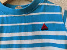Load image into Gallery viewer, Bright & Cheerful Blue Striped T Shirt 12 Months
