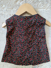 Load image into Gallery viewer, Pretty Chocolate Brown French Floral Tunic 3 Months