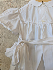 Beautiful Vintage White Cotton Smart Romper 3 Months