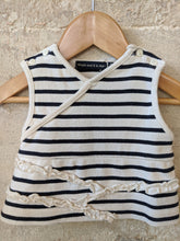 Load image into Gallery viewer, Weekend à La Mer Cute Breton Striped Ruffle Top 3 Months