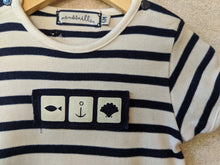 Load image into Gallery viewer, Fabulous Moussaillon Classic Breton Striped Romper 6 Months