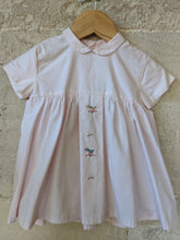 Load image into Gallery viewer, Beautiful Antique Cotton Dress with Sweet Embroidery 3 Months
