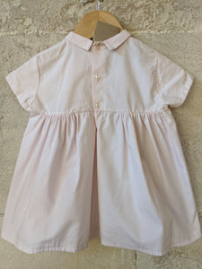 Beautiful Antique Cotton Dress with Sweet Embroidery 3 Months