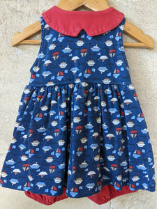 Fab French Vintage Seaside Romper Dress 6 Months