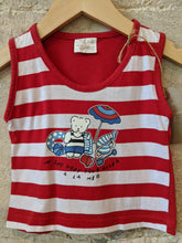 Load image into Gallery viewer, Amazing Red Striped Beach Vest Top 6 Months