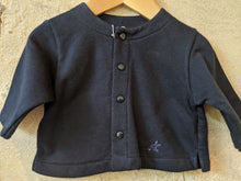 Load image into Gallery viewer, Soft Fleecy Lined French Navy Cardigan 3 Months