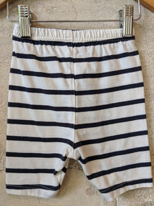 Classic Breton Striped Soft Cotton Shorts - 3 Months