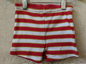 Bright Red Summer Striped Poisson Outfit 3-6 Months