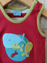 Load image into Gallery viewer, Bright Red Summer Striped Poisson Outfit 3-6 Months
