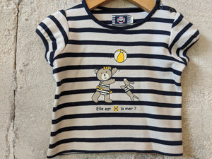Gorgeous Weekend à la Mer Breton Striped T shirt 9 Months