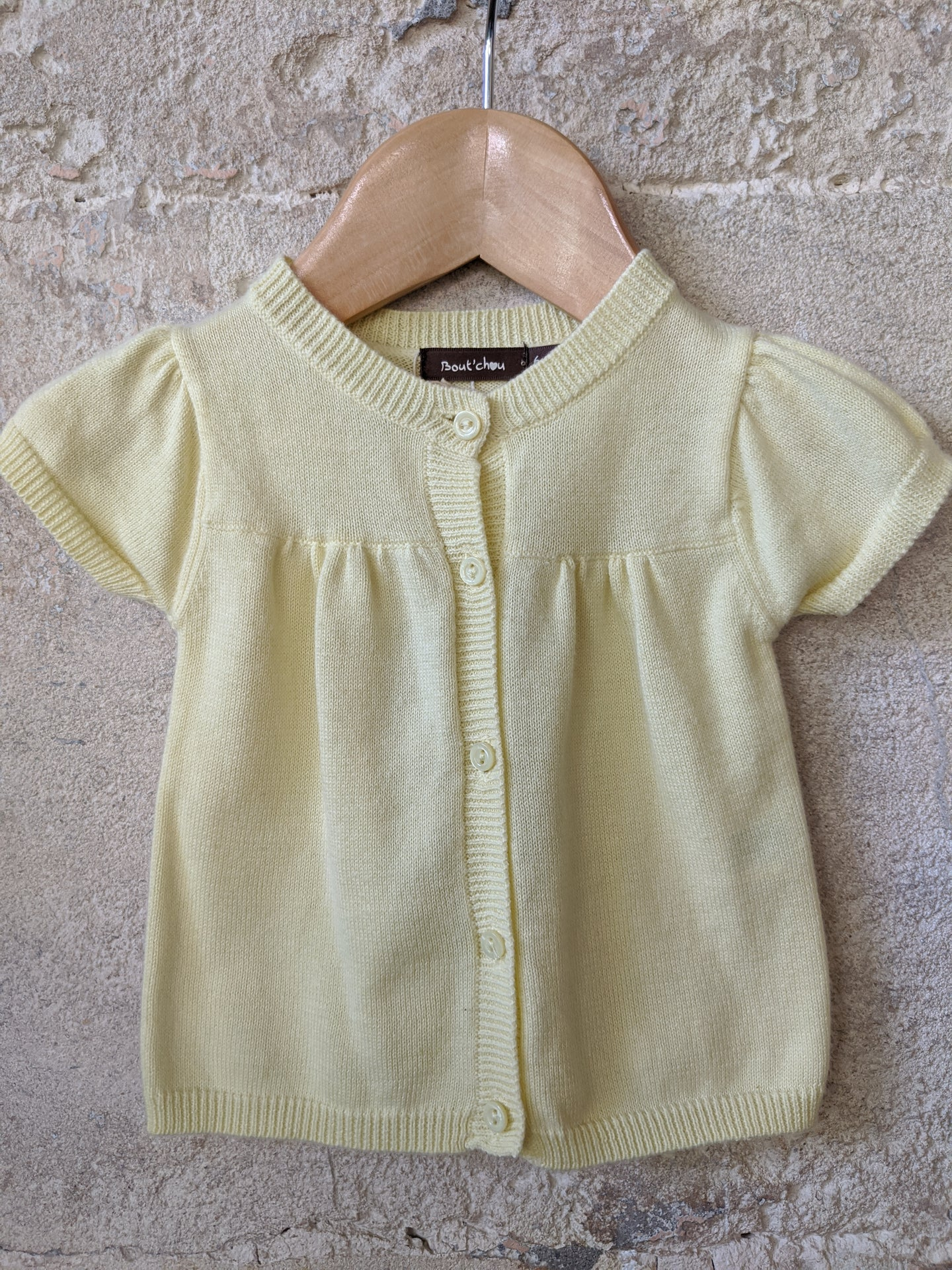 Lovely Lemon Bout'Chou Cotton Cardigan 6 Months