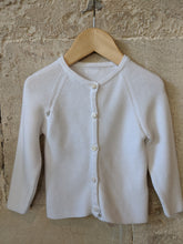 Load image into Gallery viewer, Smart, Stylish, White Cotton Cardigan 6 Months