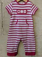 Load image into Gallery viewer, Mousaillon Pink Stripe Romper 12 Months