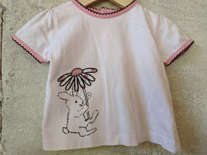 Sergent Major Pretty Pink Rabbit T Shirt 9 Months