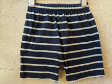 Load image into Gallery viewer, Great Soft Striped Navy Shorts 12 Months
