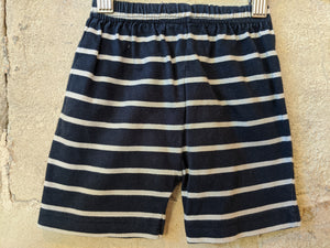 Great Soft Striped Navy Shorts 12 Months