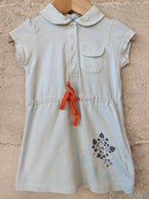 Load image into Gallery viewer, Fabulous Turquoise Polka Dot French T Shirt Dress 12 Months