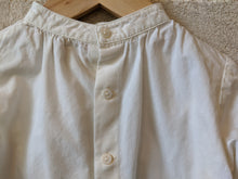 Load image into Gallery viewer, Cream Pretty Tailored Shirt with Grandad Collar 12 Months