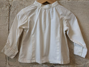 Cream Pretty Tailored Shirt with Grandad Collar 12 Months