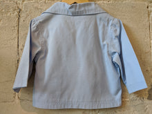 Load image into Gallery viewer, Weekend à La Mer French Fisherman's Sky Blue Smock 12 Months