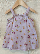 Load image into Gallery viewer, IKKS Dusky Lilac Layered Summer Top with Ribbon Straps 12 Months