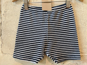 Velvety Retro Soft Striped Shorts 18 Months