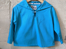 Load image into Gallery viewer, Cool Blue French Fisherman's Breton Smock Top 12 Months