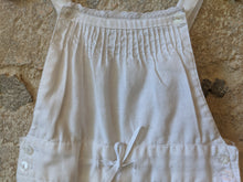Load image into Gallery viewer, Lovely White Linen Pleated Dungarees with Lace Trim 18 Months