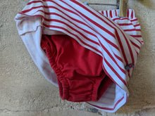 Load image into Gallery viewer, Lovely Red Stripe Cotton Skort 18 Months