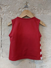 Load image into Gallery viewer, Cute Seaside Teddy Bear Red T Shirt 18 Months